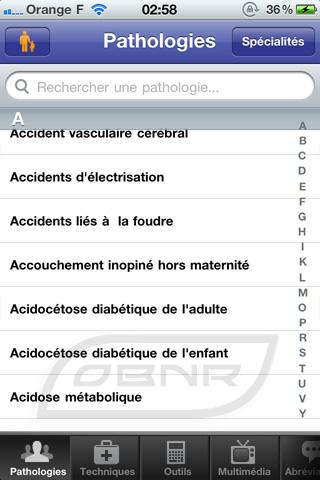 """Pathologies : sélection """"Normale"""""""