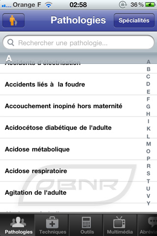 "Pathologies : sélection ""Adultes"""