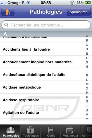 """Pathologies : sélection """"Adultes"""""""