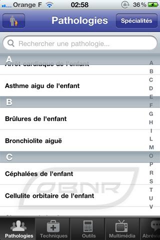 """Pathologies : sélection """"Enfants"""""""